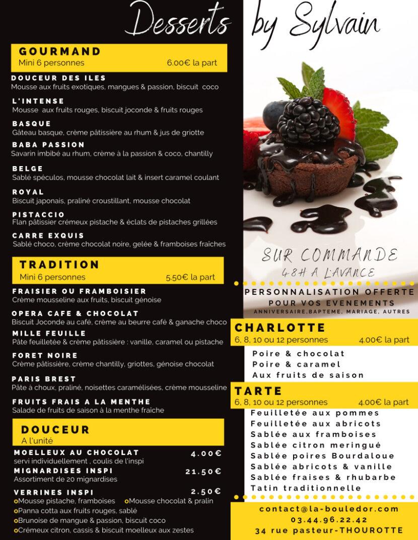 Carte Desserts